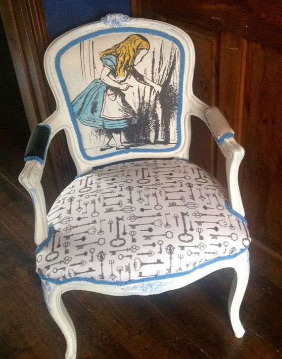 Alice in Wonderland inspired Louis chair by VintageAuroraRose