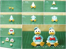 Mae's Little Kitchen: Tutorial : How to make Donald Duck Fondant Figurine