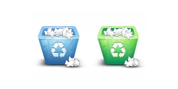 3D Recycling Bin Icon