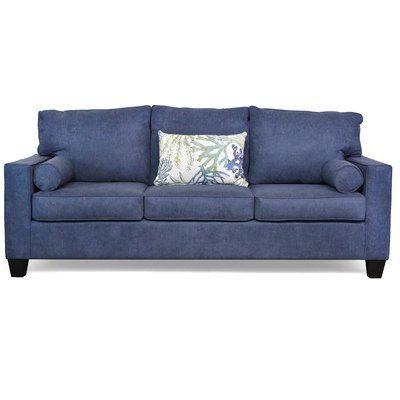 Mercury Row Godbolt Sofa Upholstery: Felix Navy / Coral Reef Oceanside