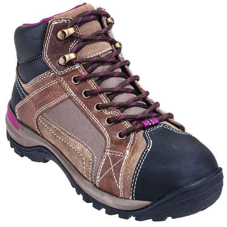 Wolverine Boots Women's Brown 10349 Chisel EH Steel Toe Hiking Boots