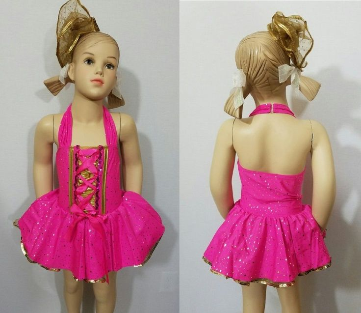 Gold Dust Baby Dance Costume Tap Ballet Dress/Shoe Bows Child X-Small Clearance #CostumeDepot