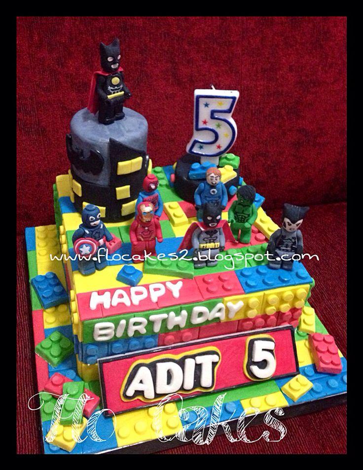 Lego hero birthday cake