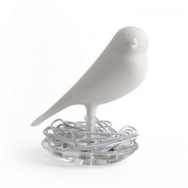 #Держатель скрепок Nest Sparrow Qualy Белый