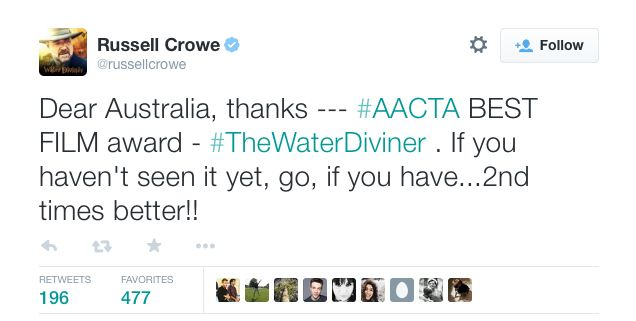 Agree with Russell Crowe? Is #TheWaterDiviner better the second time around?  See it in cinemas now: http://bit.ly/1AsPTo0  Own on Blu-ray, DVD & Digital from March 19: http://bit.ly/1BYHzvj