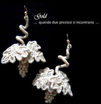 Gold | Merletti merletto ad ago Aemilia Ars cuscini porta fedi cuscini porta anelli inserti per abiti da sera e da cerimonia biancheria ricamata