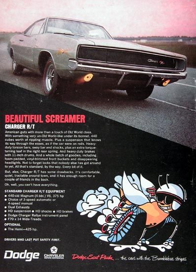 17 best images about dodge charger ads cars 1968 dodge charger r t original vintage advertisement american guts more than a