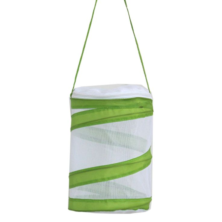 Butterfly and Insect Habitat Cage Butterfly Pavilion Mesh Terrarium Pop-up – White + Green S