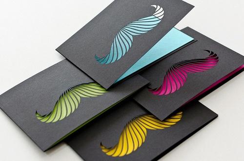 Black Mustache laser cut paper goods collection by Steffen Heidemann and Viktoria Klein