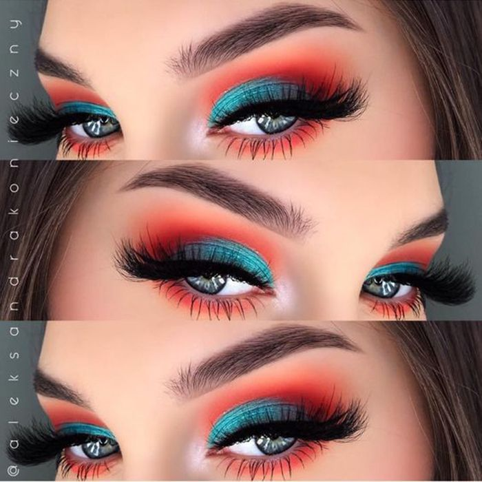 29 Karneval Make-up für Copy Now!  #EyeMakeup  Beta Fisch inspiriert Lidschatte…