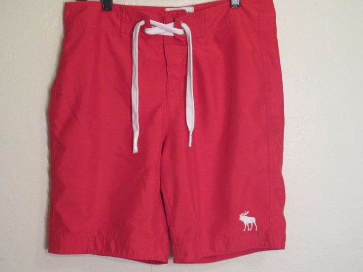 Menscave7 Ebay store. Abercrombie & Fitch BOARD SHORTS Surf Swim Trunks Small Red #AbercrombieFitch #BoardShorts