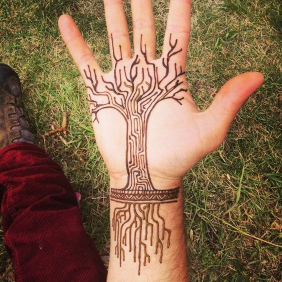 106 best tree henna images on Pinterest | Short tattoo quotes ...