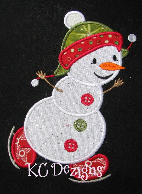Happy Snowman 03 Applique
