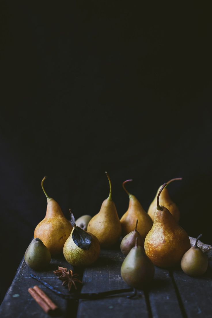 maple water poached pears | le jus d