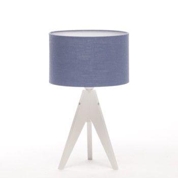 Lampa stołowa Artist Cylinder Dark Blue/White   Bonami