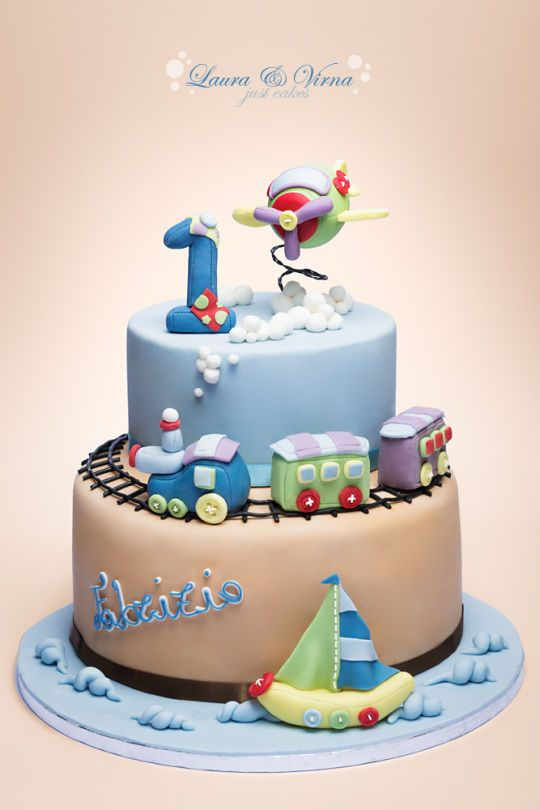 Baby boy cake - CakesDecor