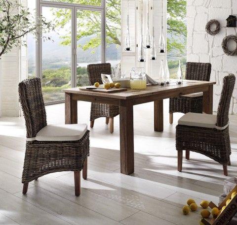 #table à dîner en teck de notre collection GREENFACE. Dans votre #salleàmanger ou votre #cuisine pour inspirer vos repas et tous vos moments de convivialités.