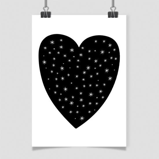 Αφίσα με καρδιά. Απλότητα στο παιδικό δωμάτιο!