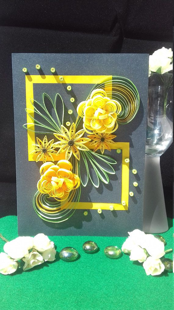 Quilling Greeting Card, Blank Greetings Card, Floral Greeting Card,
