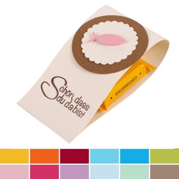 50 x Banderole Schokolade Gastgeschenk Taufe lila Kommunion Konfirmation Taufe