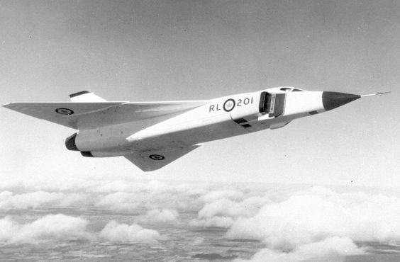Avro Arrow in flight, 1957