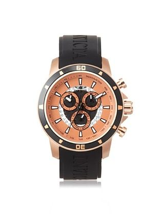 Invicta Men's 11387 Specialty Black/Rose Gold-Tone Polyurethane Watch