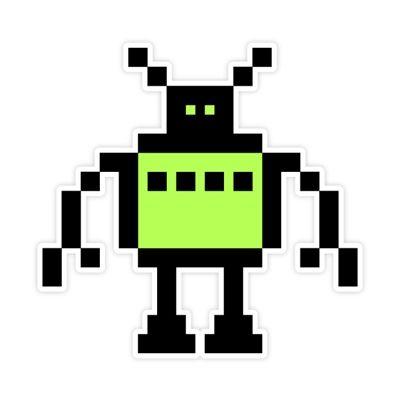 Robot Wall Graphic Susan Kare 8-Bit Wall Graphics