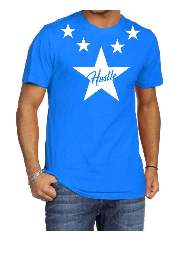 Hustle T-Shirt Sky Blue