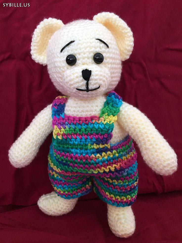 #Teddy, gelb, #gehäkelt, 32cm Teddy, yellow, #crochet, 12inch