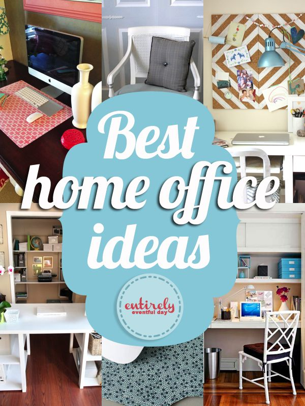 Best diy projects for your home office for Diy desk decor pinterest