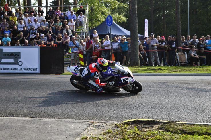 IRRC Imatra. No. 155 NAME: Vincent Lonbois NAT: BEL CLUB/TEAM: Herpigny Motors BMW Motorrad Belux BIKE: BMW  RACE 1: Place: 2. Laps: 10 Total time: 00:19:23.474 (jump start penalty + 20 sec) Difference: 20.875 Best lap time: 00:01:52.689 Best lap: 7 Speed: 153,162 Points: 20  RACE 2: Place: 1. Laps: 10 Total time: 00:18:49.000 Best lap time: 00:01:51.213 Best lap: 5 Speed: 157,839 Points: 25  IRRC SBK Imatra 2016 total points: 45 pts (1.)  #IRRC #Imatra #RoadRacing #Imatranajot #Superbike