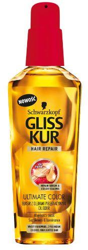 Gliss Kur - Hair Repair Ultimate Color - ELIKSIR z olejkami do włosów włosy farbowane lub z pasemkami 75ml 9000100808842