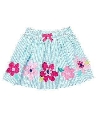 Island Hopper- Seersucker Skirt (11.63/29.95)
