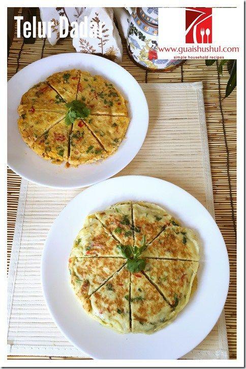 Indonesia Padang Thick Herbs Omelette–Telor Dadar Padang Tebal (印尼香辣厚蛋饼)       #guaishushu #kenneth_goh    #sushi