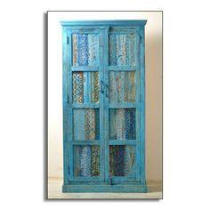 Lovely Schrank Blue Altholz mit T ren kaufen bei Mobego