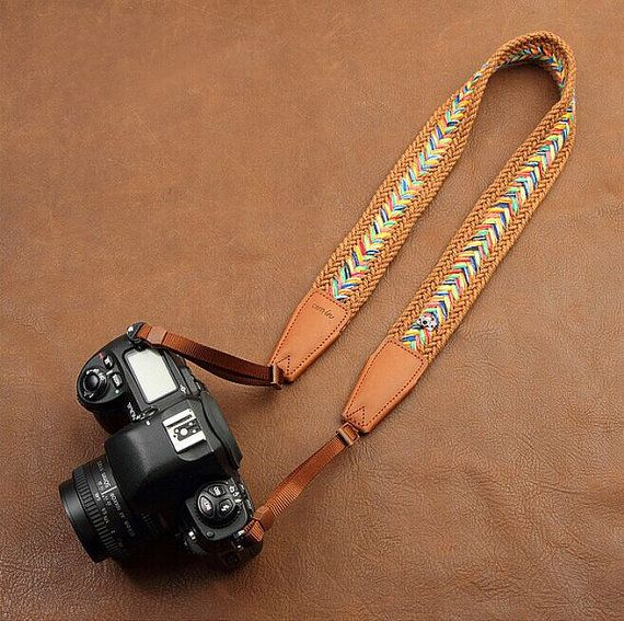 20% OFF Personalized Vintage Camera Strap Nikon/ by Dokkipaper