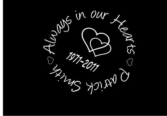Car window decal memorial decal personalized