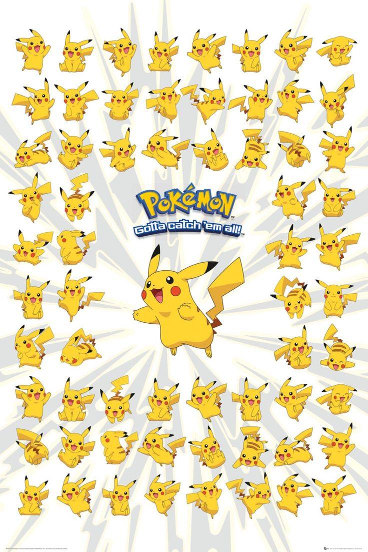 Poster: Pokemon - pikachu online te koop. Bestel je poster, je 3d filmposter of soortgelijk product Maxi Poster