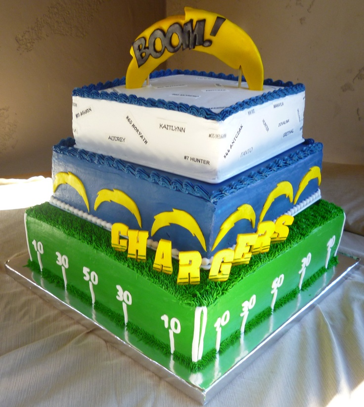 San Diego Chargers Cake: 52 Best Football Images On Pinterest