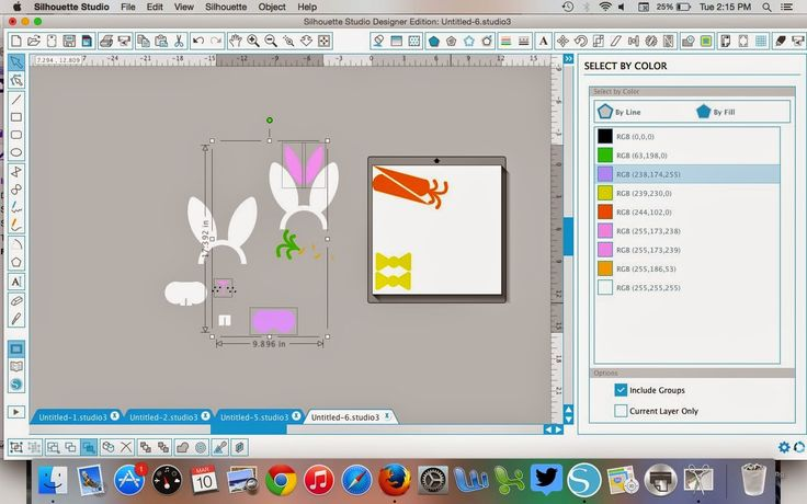 Tutorial on how to use Silhouette Studio Designer Edition's Select By Color tool.