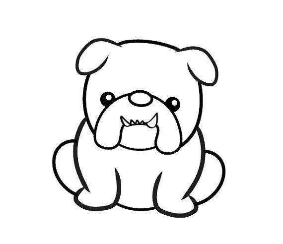 Handmade Clear Rubber Bulldog Stamp by UnderThoseNeonLights