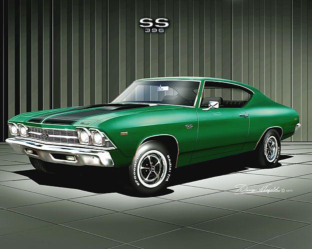 1969 Chevelle SS 396 in emerald green. | Chevelle & Monte ...