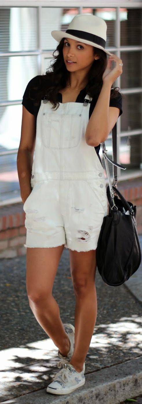 American Eagle Light Blue Ripped Cut Off Overall