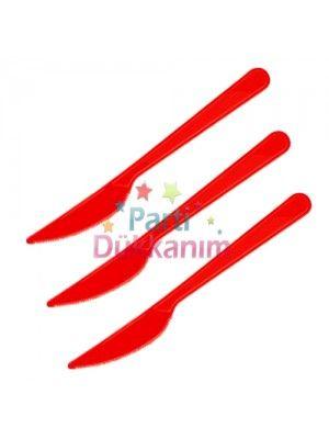 Kırmızı Plastik Bıçak Lüks (25 adet)
