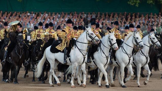 Beating Retreat at Horse Guards Parade