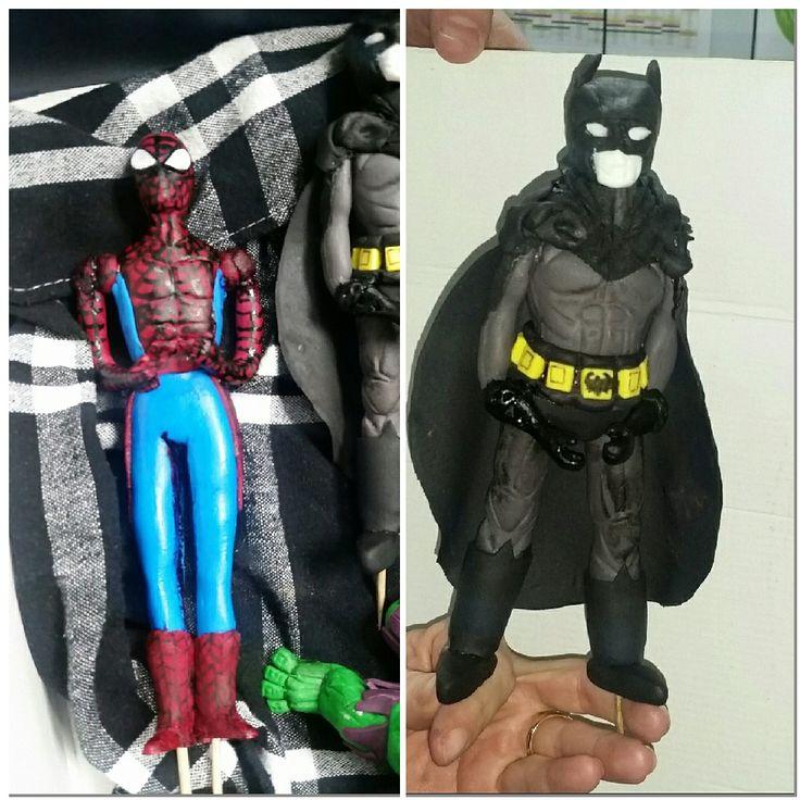 Spiderman cake topper and Batman  cake topper SPIDERMAN CAKE TOPPER