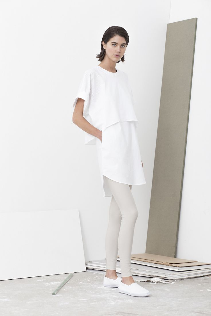 Macy double layered shirt top worn with Liz leggings