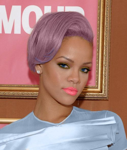 purple cotton candy hair | bright pink lips | RihannaPurple Hair, Hair Colors, Rihanna, Makeup, Purplehair, Pink Lips, Lilac Hair, Pastel Hair, Lips Colors