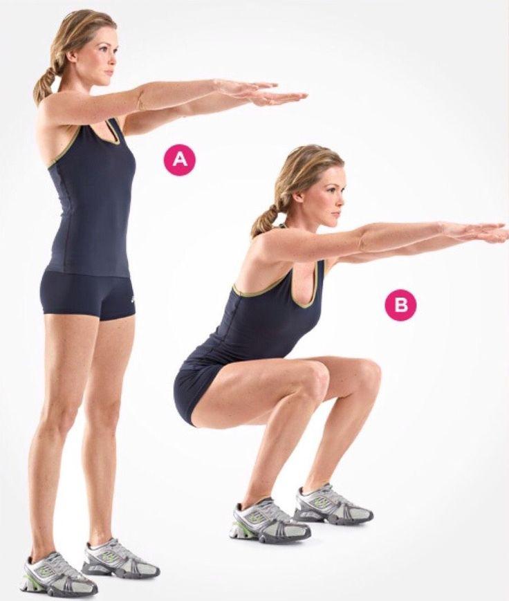 Картинка с упражнениями приседания