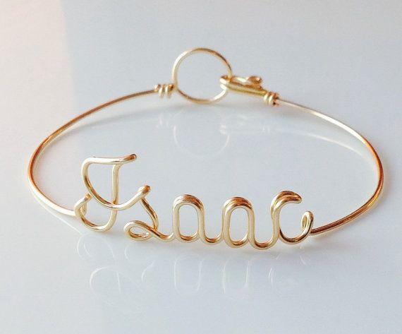 Name Bracelet. Personalise Bracelet.  wire word от IsleOfAgape